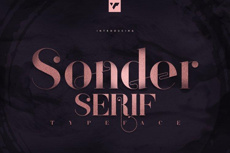 Sonder Serif Typeface - 5 weights example image 1