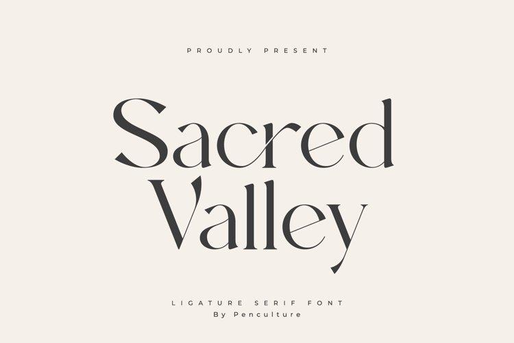 Sacred Valley - Ligature Serif Font example image 1