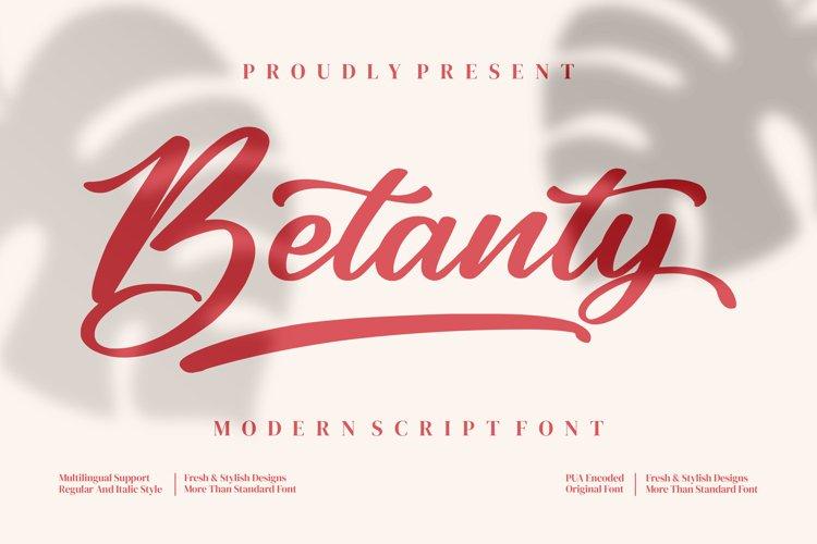 Betanty - Modern Script Font example image 1