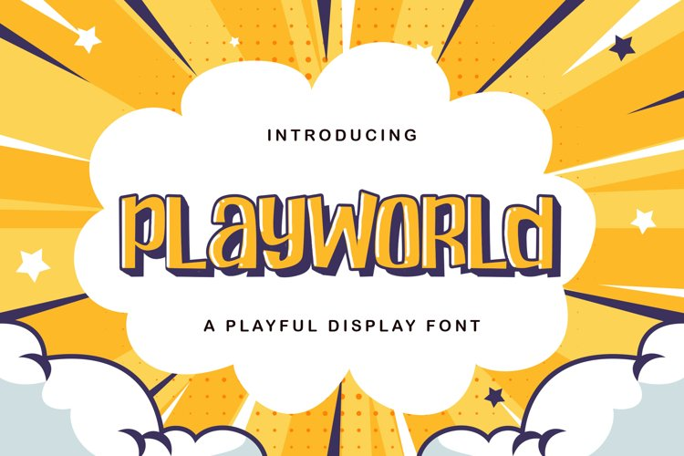 Playworld - Playful Display Font example image 1