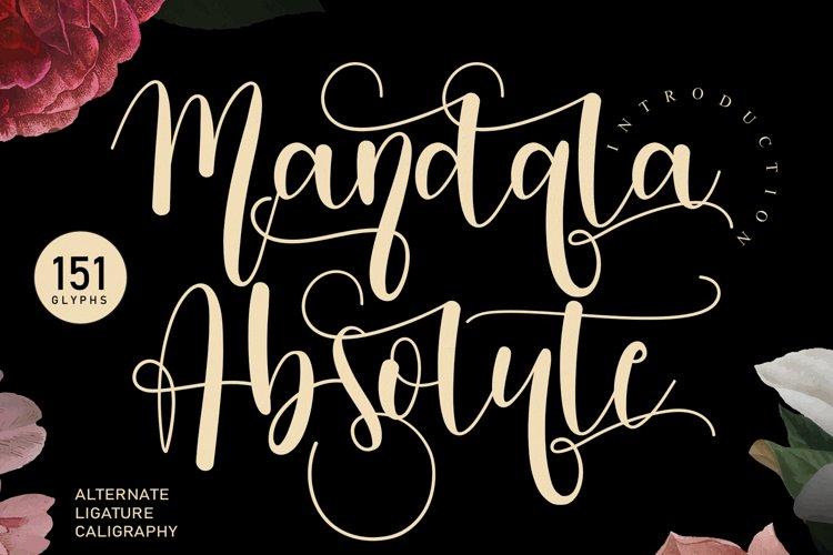 Mandala Absolute   handwritten font example image 1