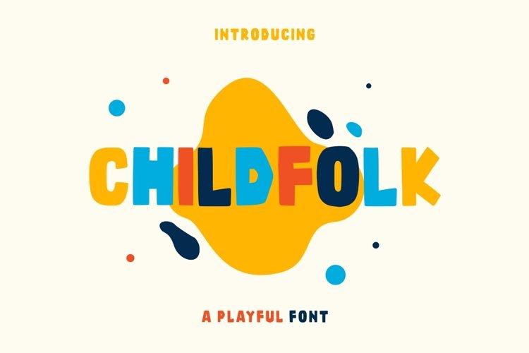 Childfolk - Display & Playful Fonts