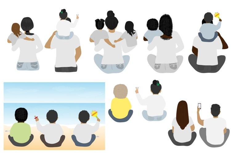 Beach Family Bundle Family clipart