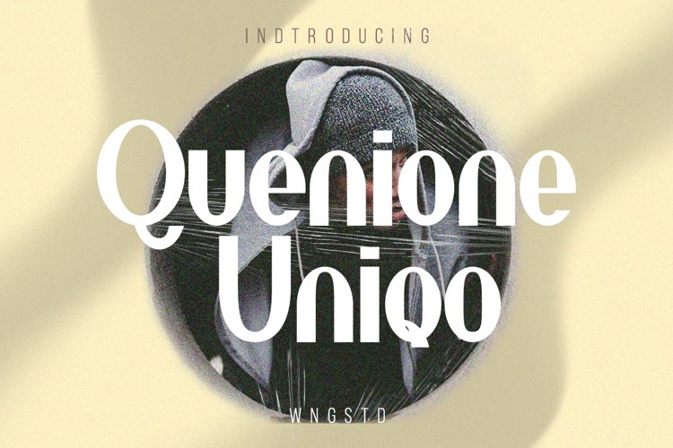 Quenione Unico - cool and trendy sans serif font example image 1