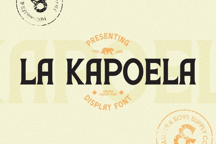 LaKapoela Font example image 1