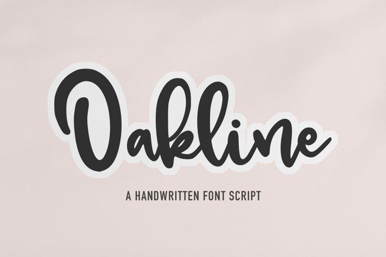 Oakline - a Handwritten Script Font