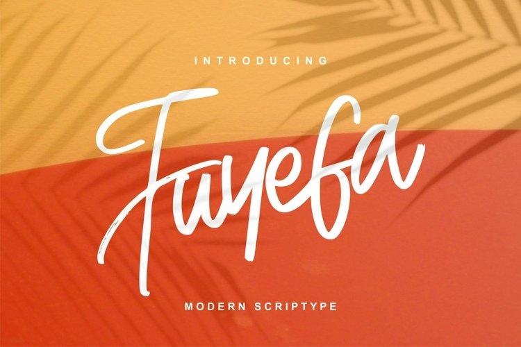 Fuyefa Modern Scriptype example image 1