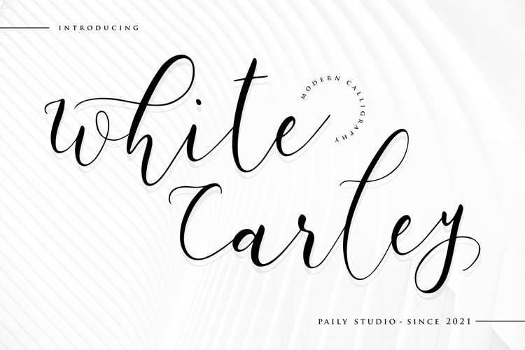 White Carley Modern Calligraphy Font example image 1