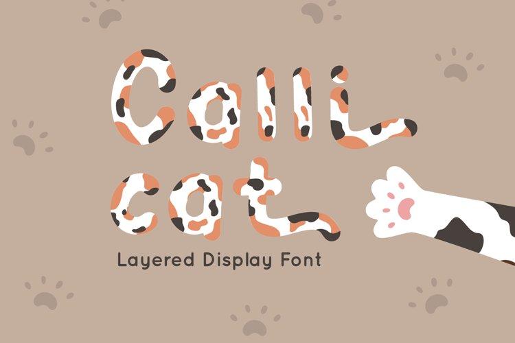 Calli Cat - Layered Display Font example image 1