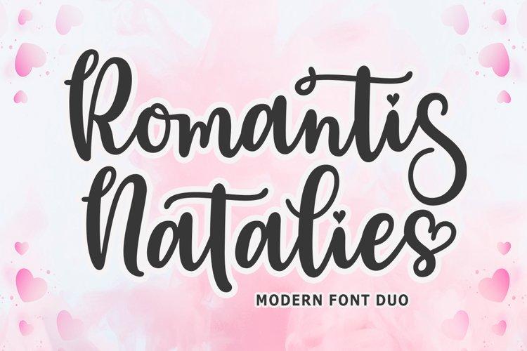 Romantis Natalies Font Duo example image 1
