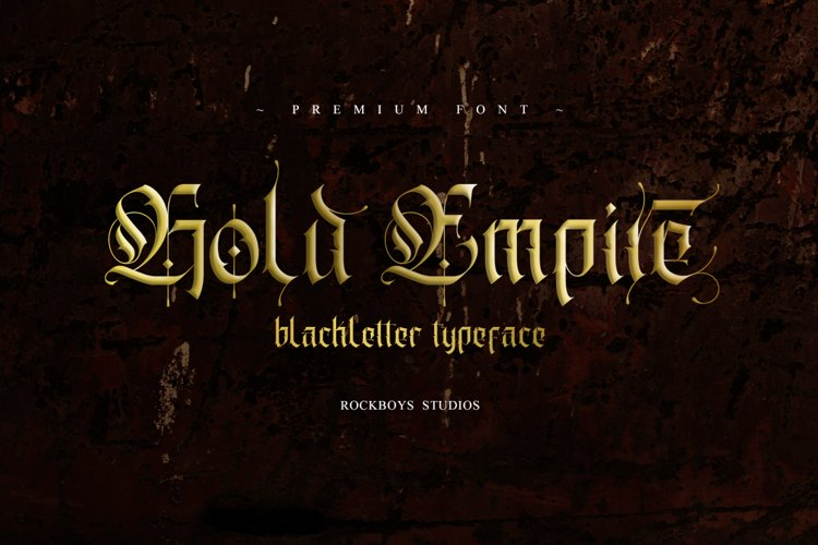 Gold Empire - Blackletter Font example image 1