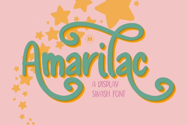 Amarilac - A Display Swash Font example image 1