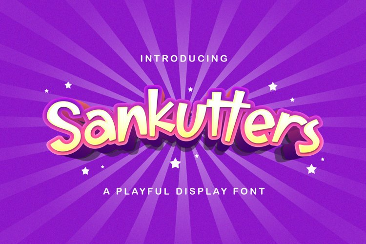 Sankutters - Playful Display Font example image 1