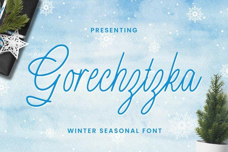 Gorechtzka Font example image 1