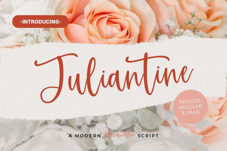 Juliantine - Handwritten example image 1