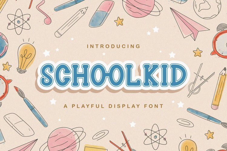 Schoolkid - Playful Display Font example image 1