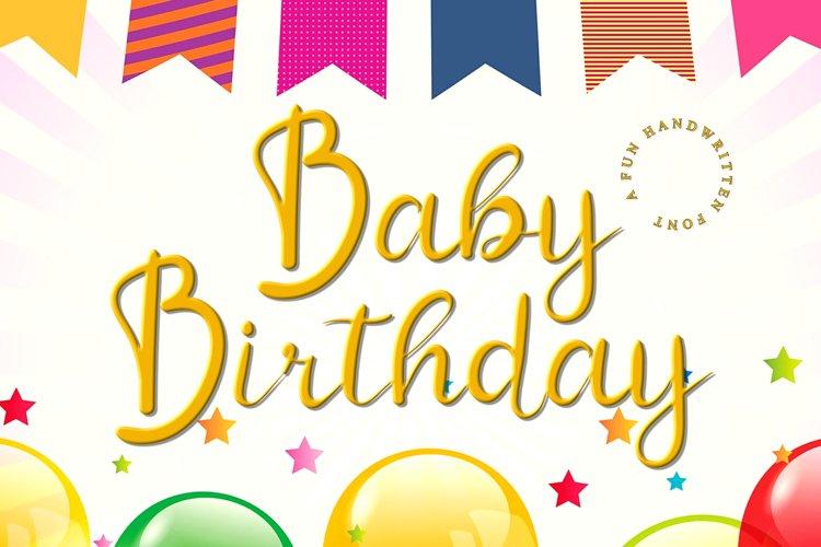 Baby Birthday example image 1