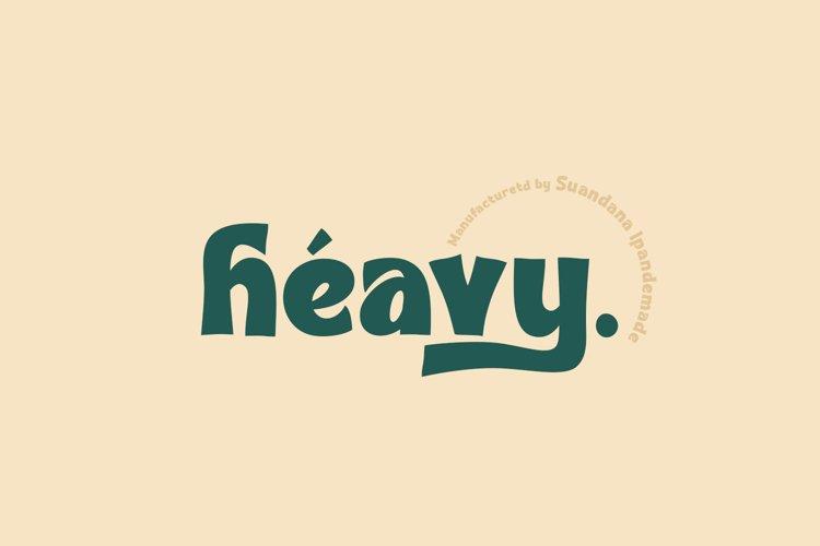 Heavy - Bold Font example image 1