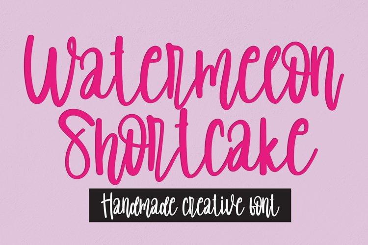 Watermelon Shortcake | handwritten font example image 1