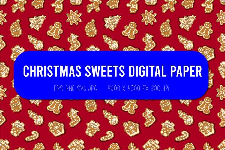 Christmas seamless pattern  Christmas digital paper example image 1