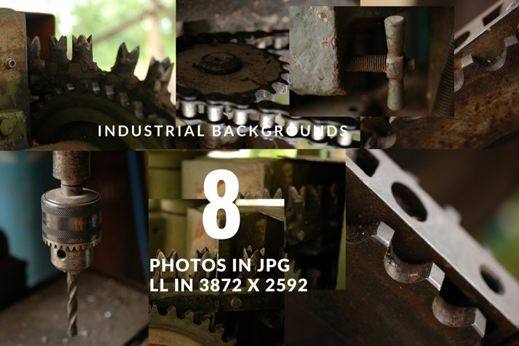 Set of Industrial Photos of Tools
