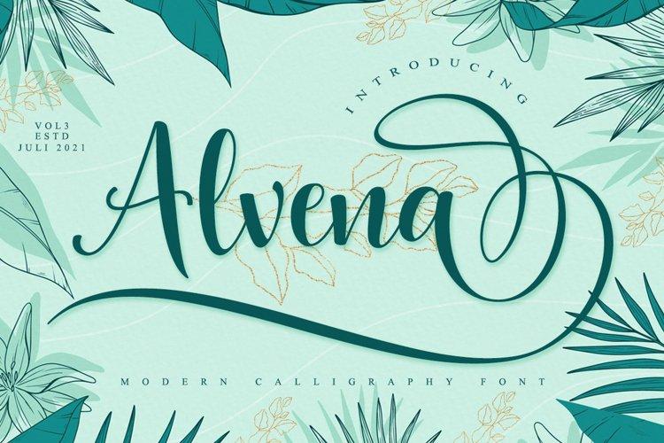 Alvena Script example image 1