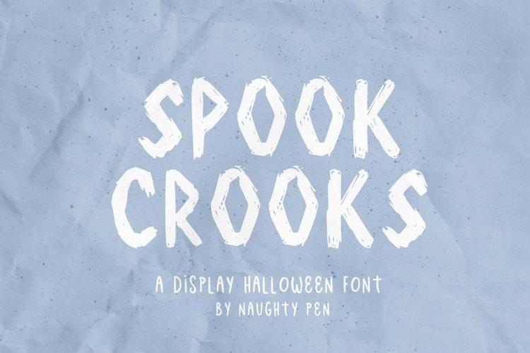Spook Crooks Halloween Display Font example image 1