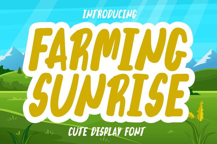 Farming Sunrise example image 1