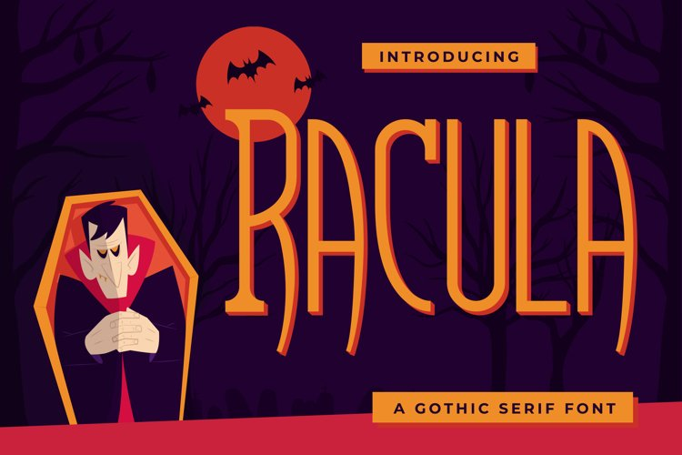 Racula - A Gothic Serif Font example image 1