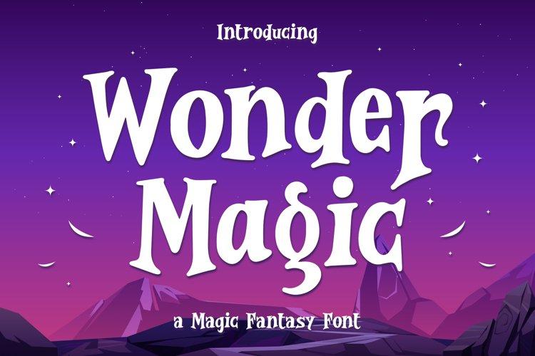 Wonder Magic - a Magic Fantasy Font example image 1