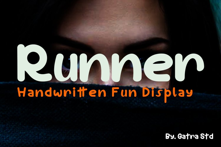 Runner Handwritten Fun Display example image 1