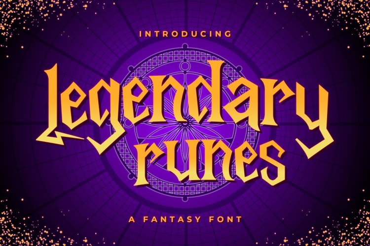 Legendary Runes - Fantasy Font example image 1