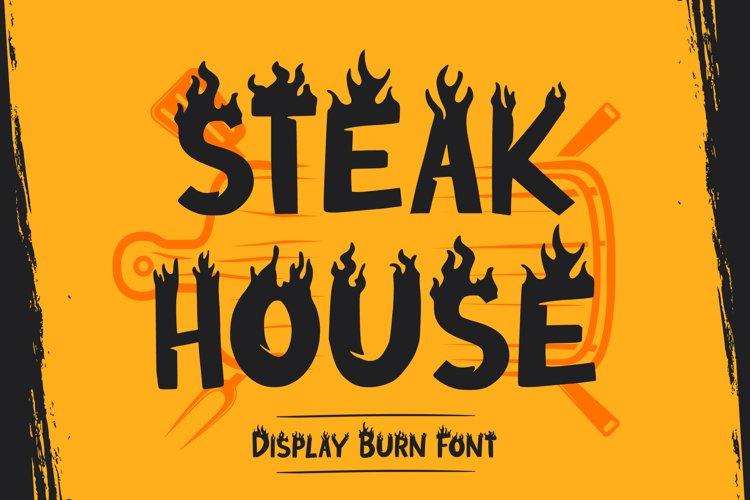 Steak House - Display Burn Font example image 1