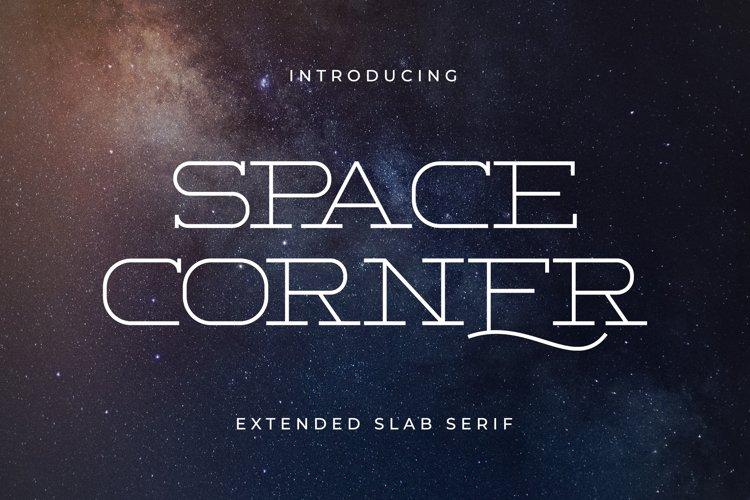 Space Corner - Extended Slab Serif example image 1