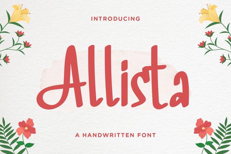 Allista - Fancy Handwritten Font example image 1
