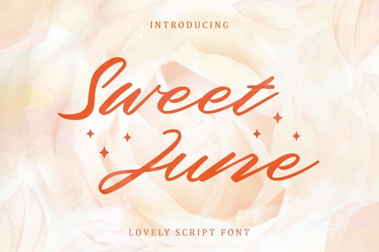 Sweet June - Lovely Script Font example image 1