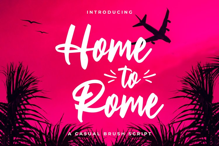 Home to Rome - Casual Brush Script example image 1