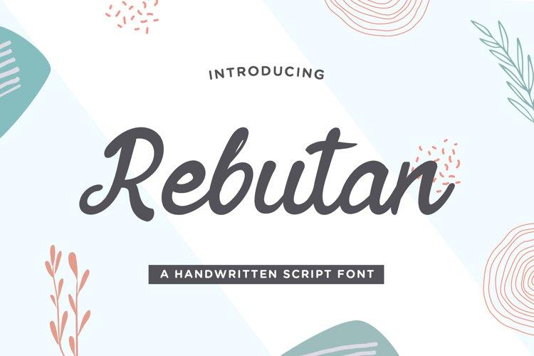 Rebutan - Handwritten Script Font example image 1