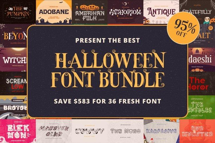 The Best Halloween Font Bundle example image 1