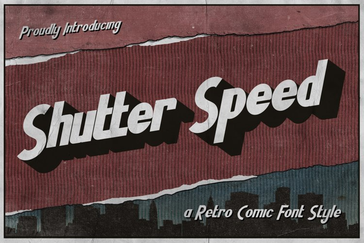 Shutter Speed - A Retro Comic Font example image 1