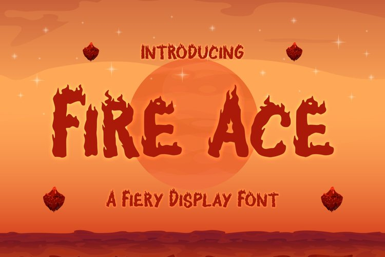 Fire Ace - A Fiery Display Font example image 1