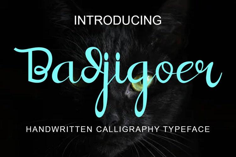 Badjigoer Handwritten Calligraphy Typeface