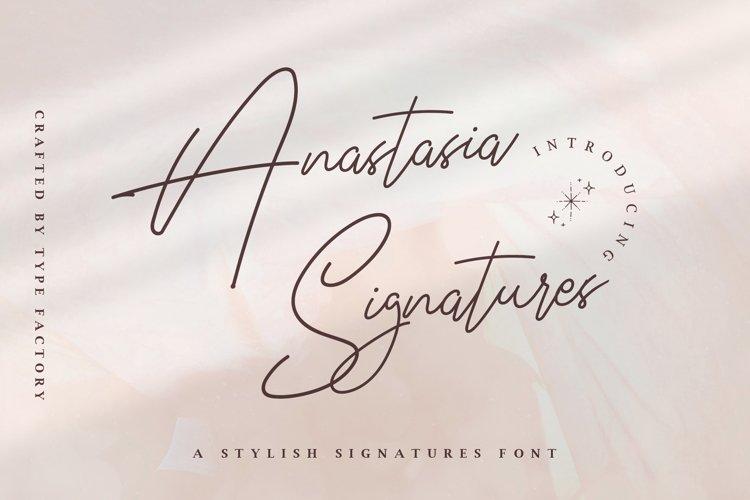 Anastasia Signature - Stylish Signature Font example image 1