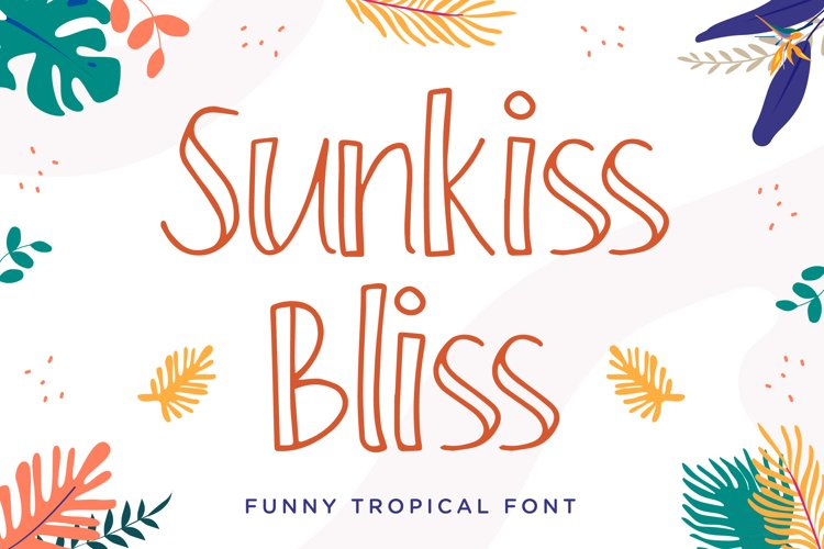 Sunkiss Bliss - Funny Tropical Font example image 1