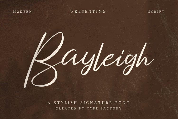 Bayleigh - Stylish Signature Font example image 1