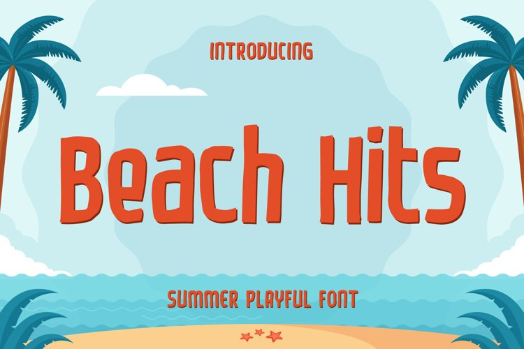 Beach Hits - Summer Playful Font example image 1