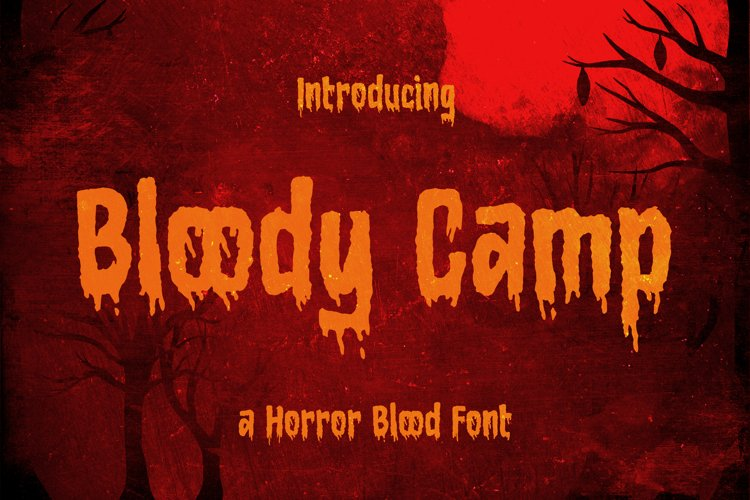 Bloody Camp - a Horror Blood Font example image 1