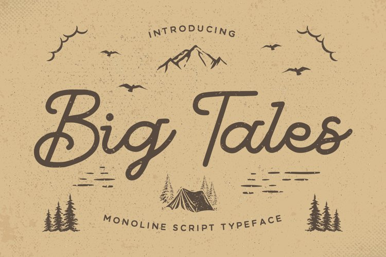 Big Tales - Monoline Script example image 1
