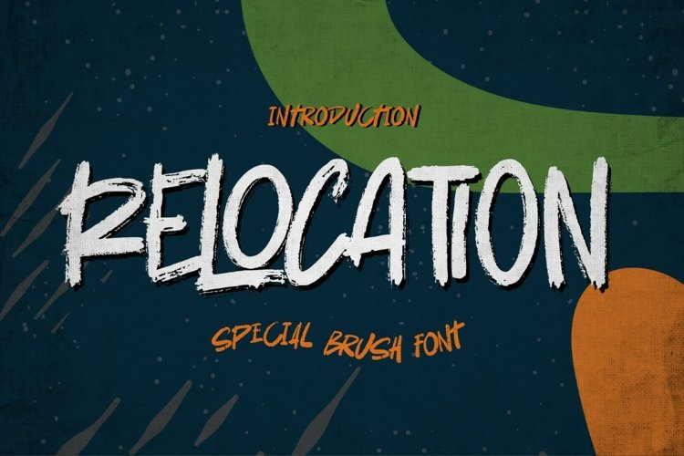 Relocation - Bold handmade Rough Brush Font example image 1