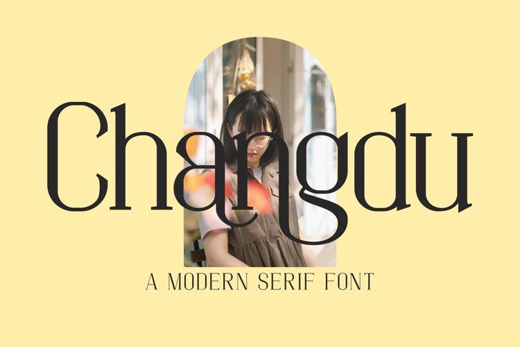 Changdu - A Modern Serif Font example image 1